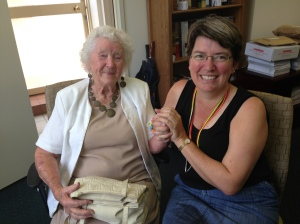 Rowena with Anne after morning tea.