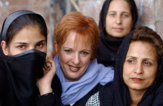 Deborah and kabul Beauty school students